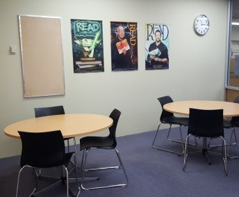 MEETING ROOM: perfect for extension classes, staff meetings and small group study. Can be booked by staff.