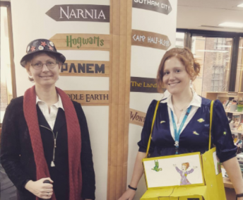 Book Week 2017 Library staff dressed up for the Book Week Parade